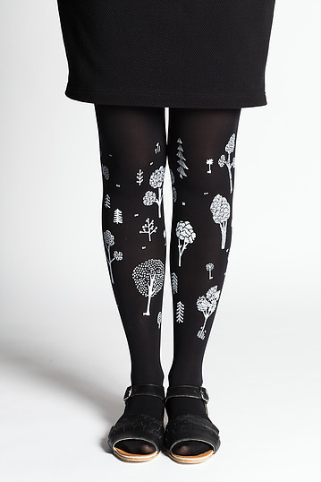 Puisto tights | black recycled yarn