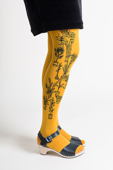 Flora tights | yellow
