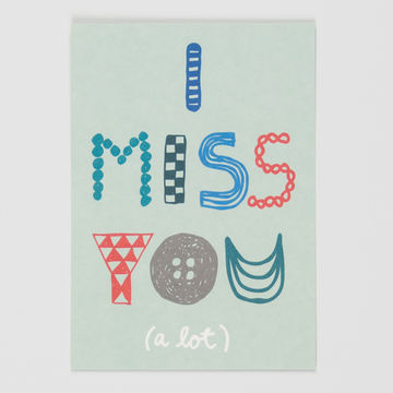 I Miss You postcard A6