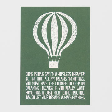 Life Balloon postcard A6