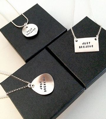 With your own words necklaces