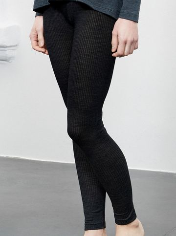 Silky wool leggings | black