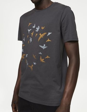 James Circle Birds t-shirt | acid black
