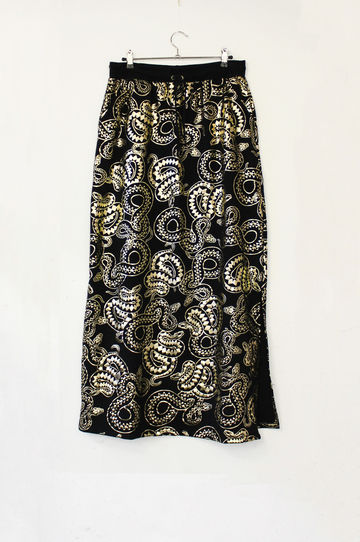 Cosmos skirt | black & gold