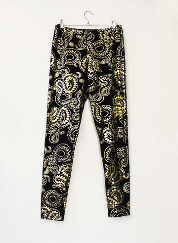 Bellamy leggings | black & gold