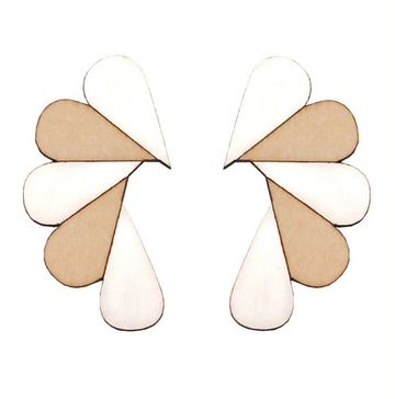Cry Me A River earrings | white/wood