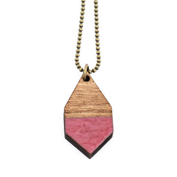 Diamante necklace small | dark wood/hammered rosewood