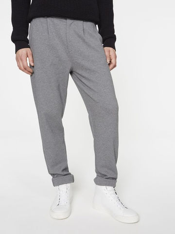 Justus trousers | mid grey melange