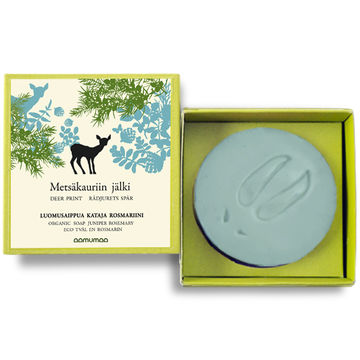 Deer print organic soap | juniper-rosemary 85g