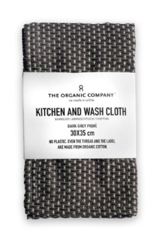 Kitchen And Wash Cloth | Dark Grey Pique