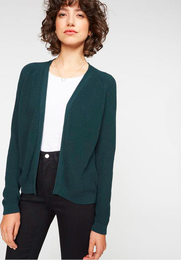 Marion knitted jacket | park green