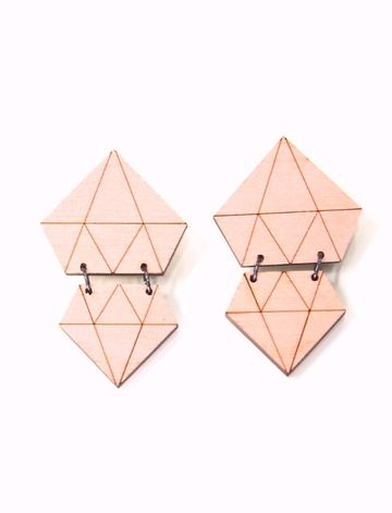 Diamond earrings | coral