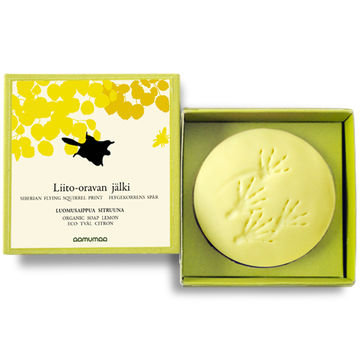 Siberian flying squirrel print organic soap | lemon 85g