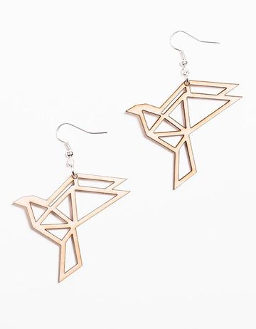 Origami Dove earrings | birch