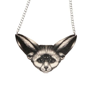 Vision desert fox necklace | black