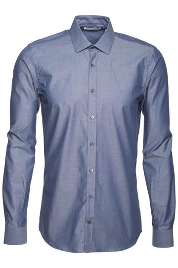 Metro Shirt Slim Male Metro Blue