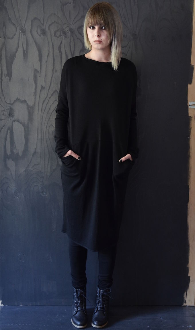 Black Aya merino wool dress - Sanna Hopiavuori