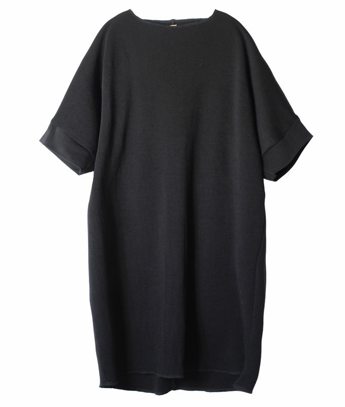 Black Shiloh merino wool dress