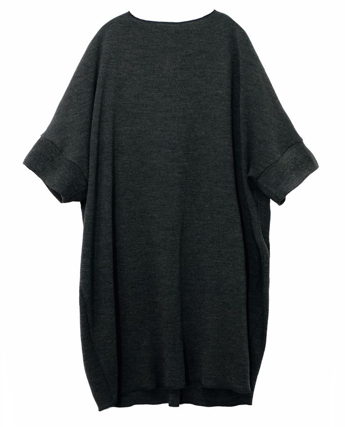 Grey Shiloh merino wool dress