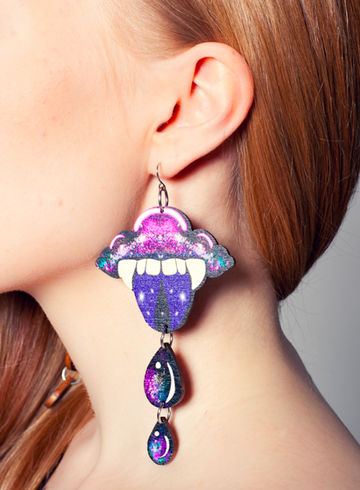 """The Vampire Cloud from Space..."" earrings"