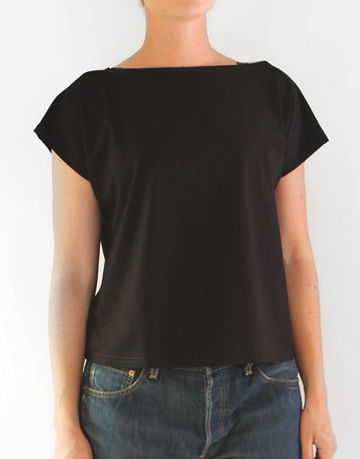 V-back top | black