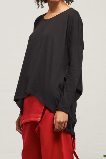 Building Block drape top | black
