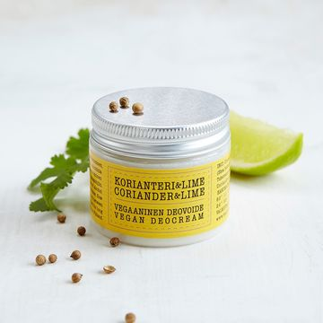 Vegan deodorant cream 50ml | coriander-lime