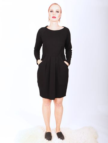 Long sleeve tulip dress | black