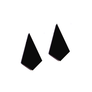 Ira stud earrings | black