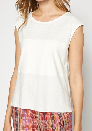 Hemp cotton jersey top | off white