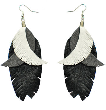 Color Me Up earrings | white/grey/black