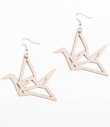 Origami Swan earrings | birch