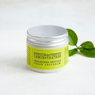 Vegan deodorant cream 50ml | lemon-tea tree