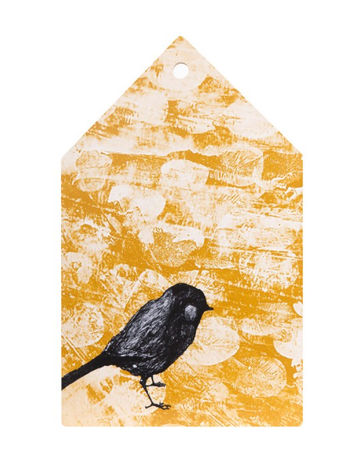 Cutting board House | bird yellow