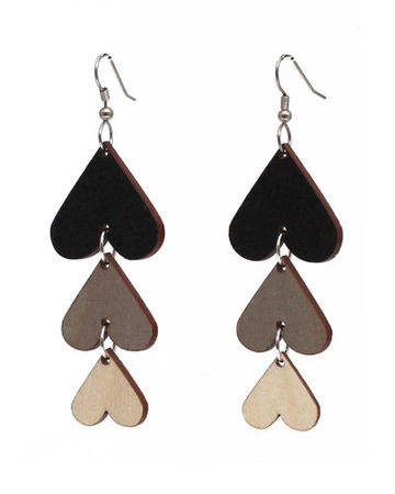 Wish I Was Your Lover earrings | black/grey/wood