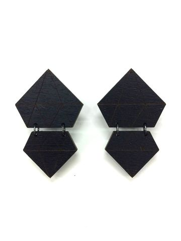 Diamond earrings | black
