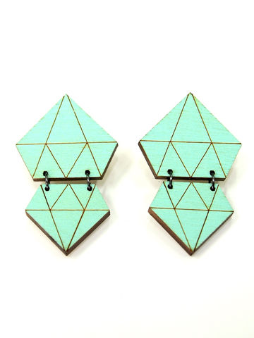 Diamond earrings | jade