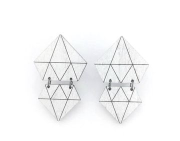 Diamond earrings | white