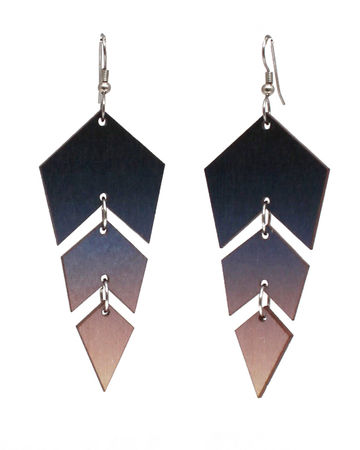Copy of Ombre earrings | black
