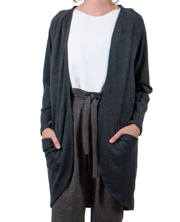 Pocket cardigan | grey merino wool